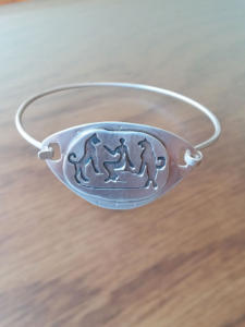 Earth Goddess with Lions Bangle